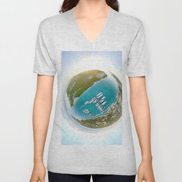 Tiny Planet Turks and Caicos Unisex V-Neck