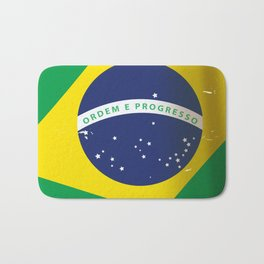 Brasil Nation flag travel poster Bath Mat
