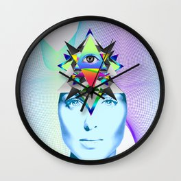 Psychedelic Woman Wall Clock