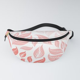 LIVING CORAL LEAVES 3 Fanny Pack
