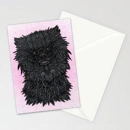 Black Pomeranian Stationery Cards
