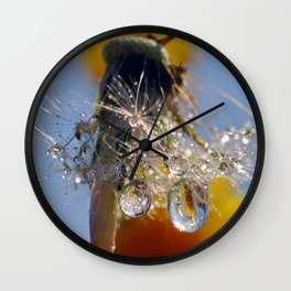 dandelion drops 3 Wall Clock