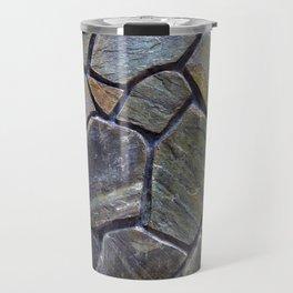 Stone Mosaic Wall Travel Mug