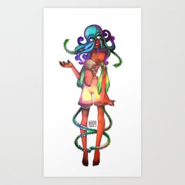 Underwater Lady Art Print