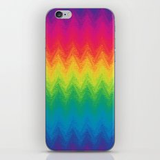 neon rainbow feather chevron  iPhone & iPod Skin