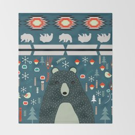Bear Christmas decoration Throw Blanket