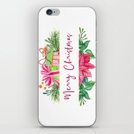 Merry Christmas Design Elements 1 iPhone Skin