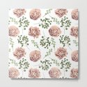 Roses Pattern on White by naturemagick