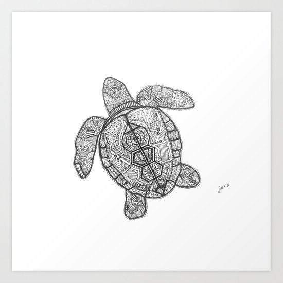 Sharpie Turtle Art Print