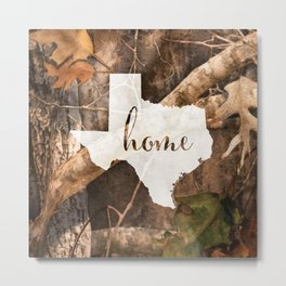 Texas is Home - Camo Metal Print