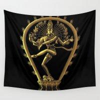 shiva Wall Tapestries featuring Shiva by Aurapim Vorasopan