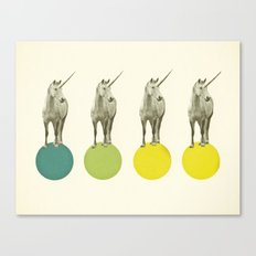 Unicorn Parade Canvas Print