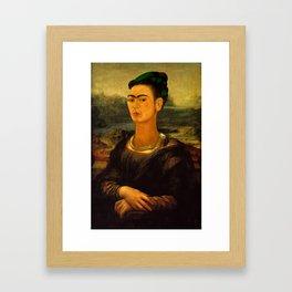 Frida Kahlo's Mona Lisa Framed Art Print