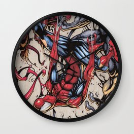 Spider Fight, Man. Wall Clock