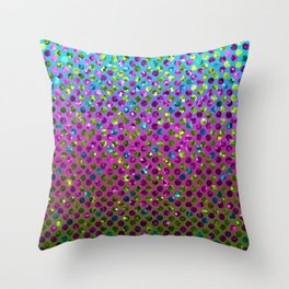 Polka Dot Sparkley Jewels G377 Throw Pillow