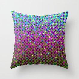 Polka Dot Sparkley Jewels G377 Throw Pillow