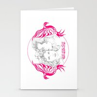 grease Stationery Cards featuring Grease (Sketch & bird design) by Rene Alberto