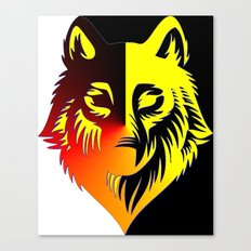 The Solar Wolf Canvas Print