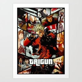 Trigun Ultimate anime tribute Art Print