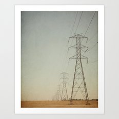 Power Lines II Art Print