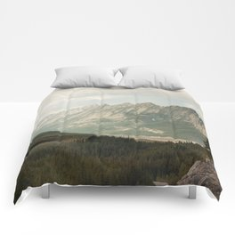 Rocky Mountains Photography Print Comforters