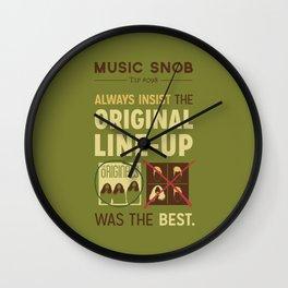 Original Line-up — Music Snob Tip #098 Wall Clock