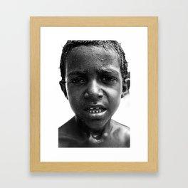 brazilian kid Framed Art Print