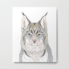 Woodlands lynx Metal Print