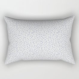 Modern abstract hand painted gray blue paint brushstrokes Rectangular Pillow