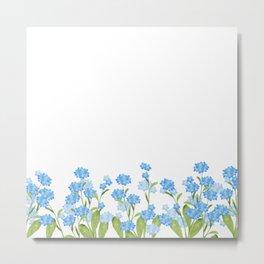 Forget-me-not watercolor Metal Print