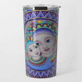 Mother and Child Mandala Travel Mug