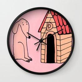 Dog House Wall Clock