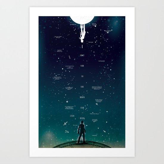 Love ya to the Moon and Back Art Print