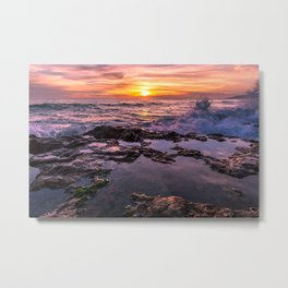 Pure Happiness Pirates Cove Malibu Sunset Metal Print