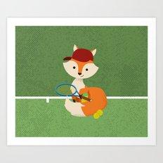 Tennis fox Art Print