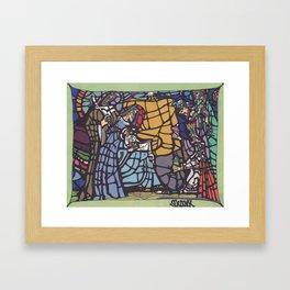 Stained Glass - Nativity Framed Art Print