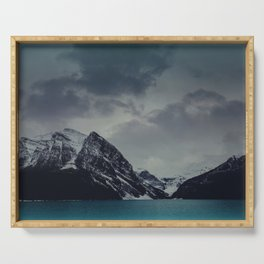 Lake Louise Winter Landscape Serving Tray