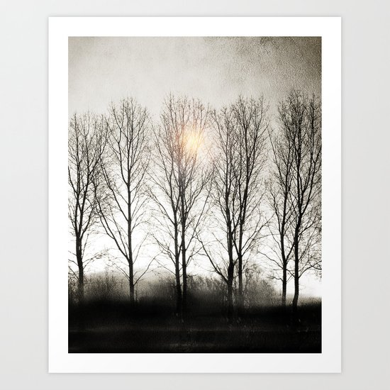 winter sequence Art Print
