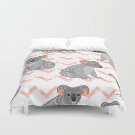 Koala Seamless Pattern Duvet Cover