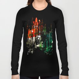 City Aflame and Drowning Long Sleeve T-shirt