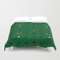 turtles Duvet Covers featuring Turtles by AboveOrdinaryArts