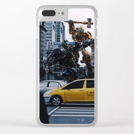 Transformer war Clear iPhone Case