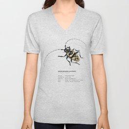 Longhorn Beetle Unisex V-Neck