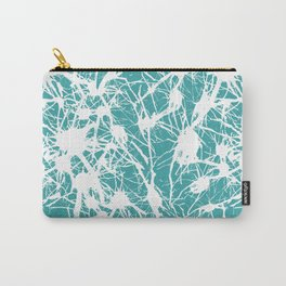 Branching out in Teal Carry-All Pouch