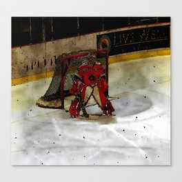Life Goals - Ice Hockey Goalie Motivational Art Canvas Print