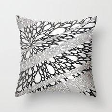 Linear Burst Throw Pillow