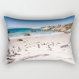 Penguins on Boulders Beach in Cape Town, South Africa Rectangular Pillow