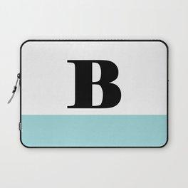 Monogram Letter B-Pantone-Limpet Shell Laptop Sleeve