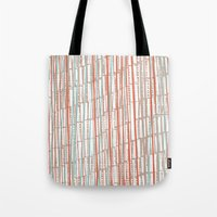 tape Tote Bags featuring tape by  Ray Athi