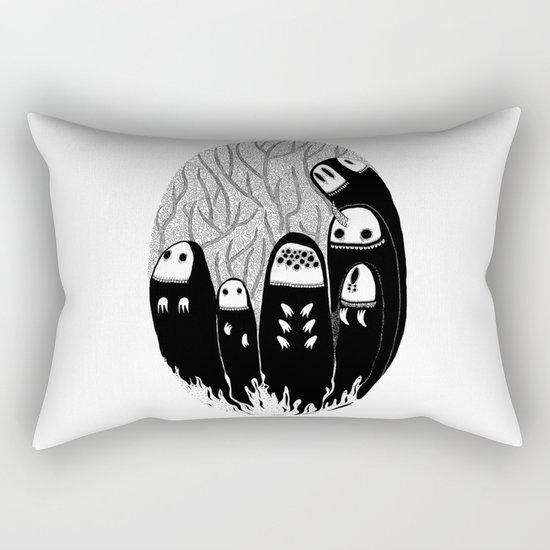 Crowded Wood Rectangular Pillow